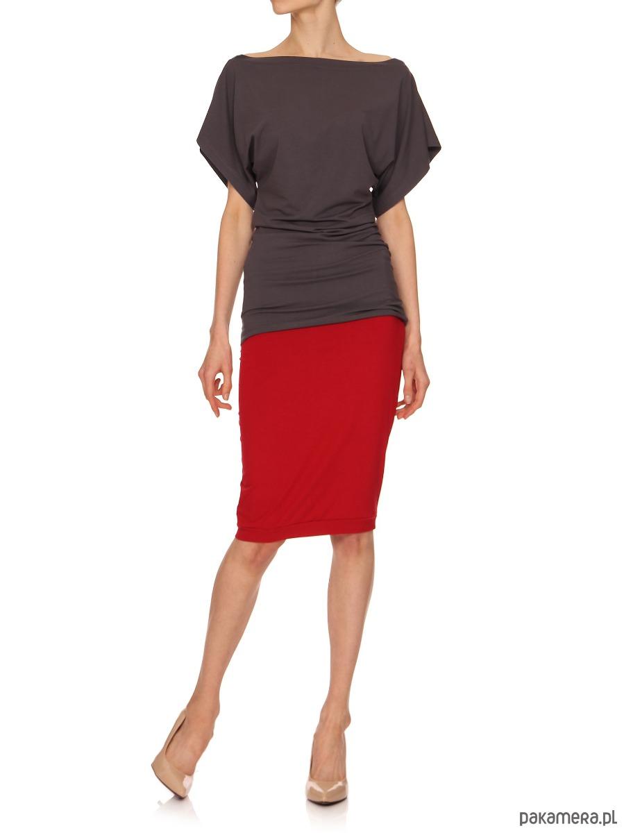 Spódnica czerwona YY600059_RAL3020