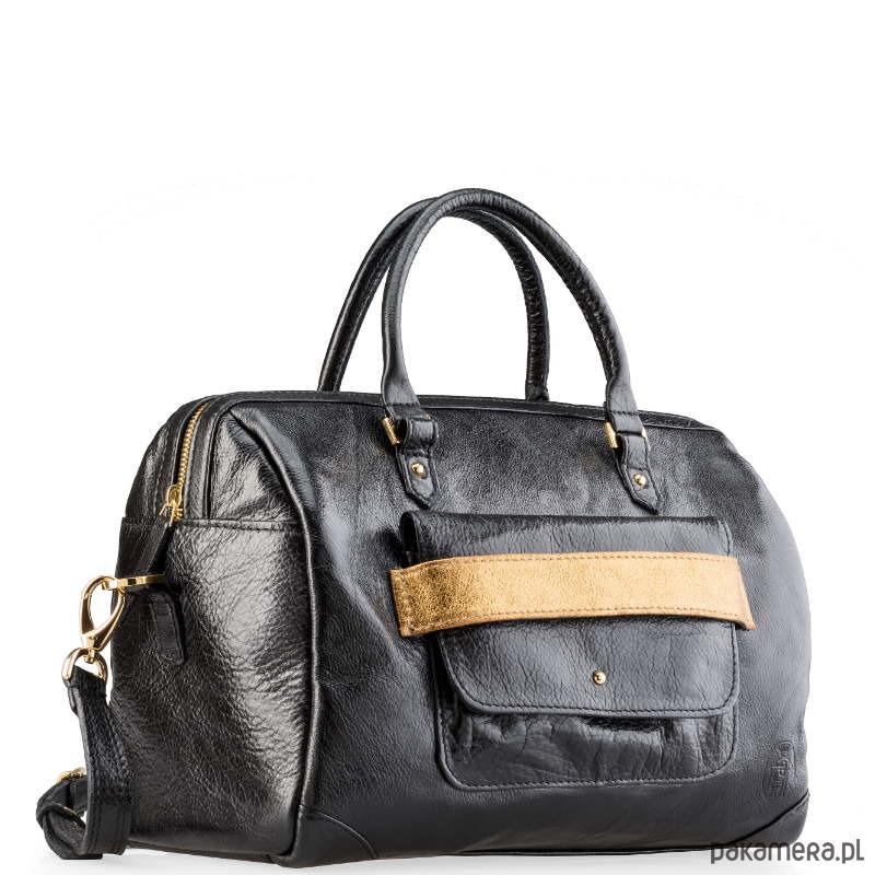 07e7334e8497e Elegancki damski kuferek z lakierowanej skóry - torby podróżne ...