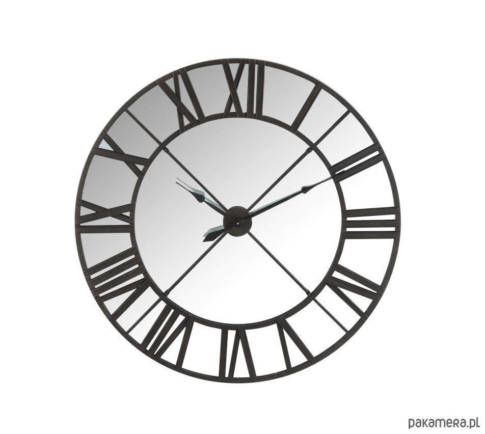 Zegar ścienny Z Lustrem Metal Czarny 1225 Cm Pakamerapl