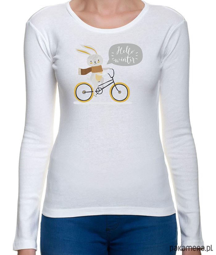 koszulka damska z zajączkiem