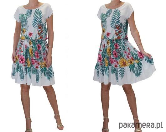 Sukienka w kwiaty/liscie