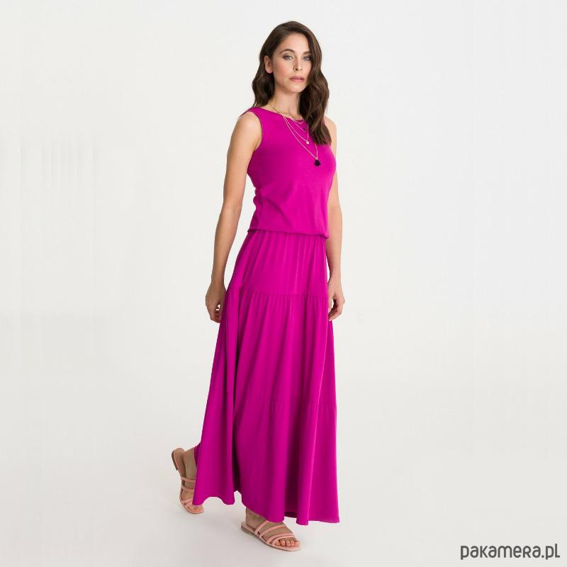 Sukienka BOHEMA fuksja długa