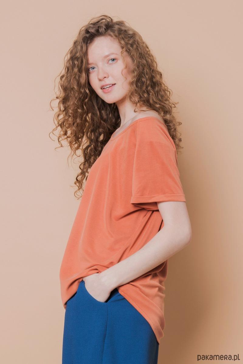 T-shirt raglanowy pomarańczowy
