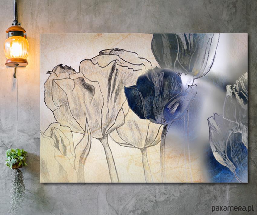 Kwiaty Dekoracje ścienne Pakamerapl