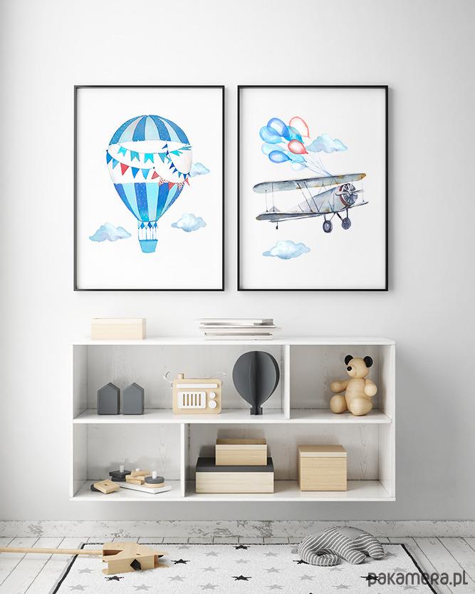 Balon I Samolot Plakaty Dla Chłopca Pakamerapl