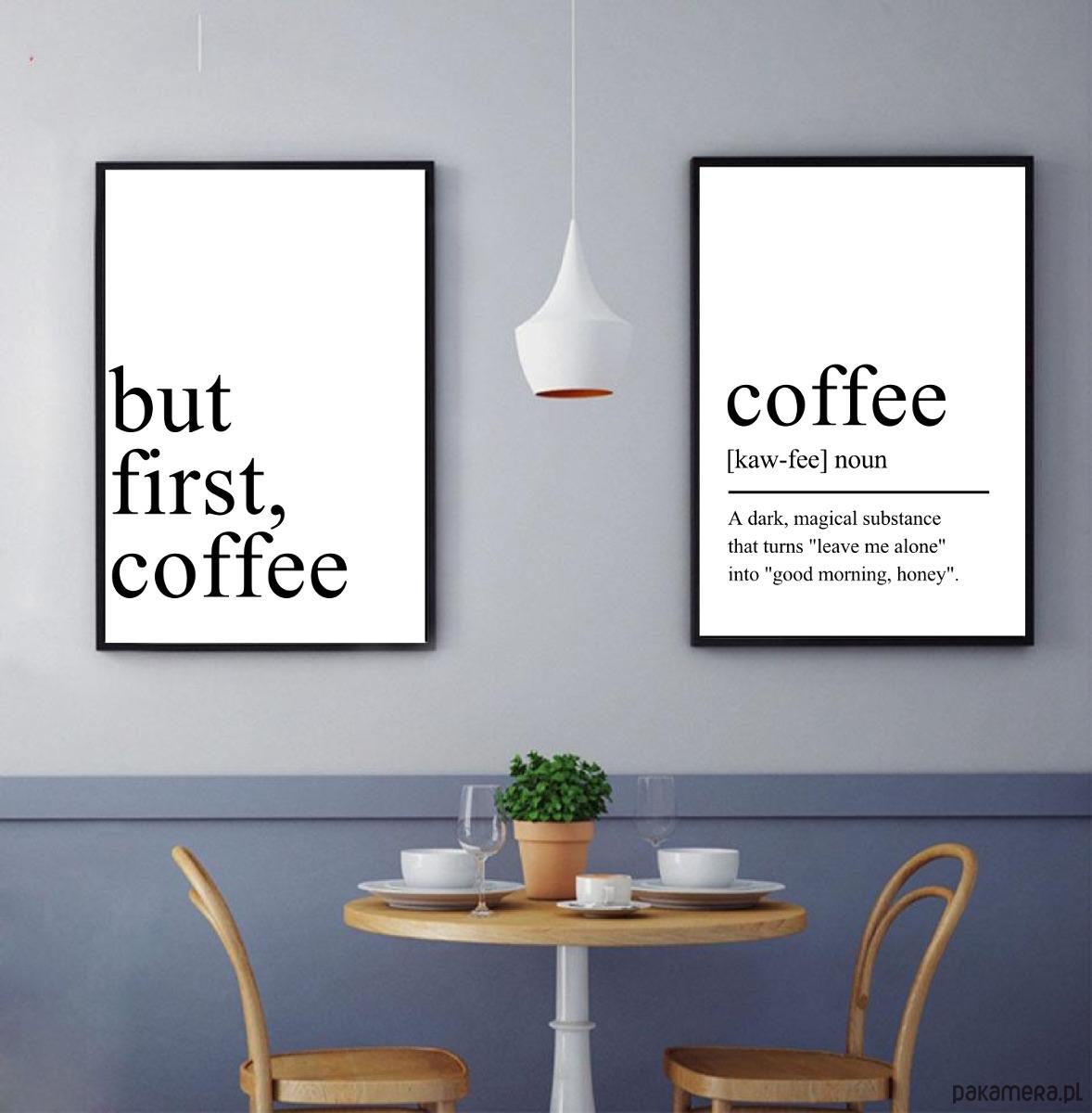 Dwa Plakaty Do Kuchni Do Kawiarni Coffee Kawa Pakamerapl