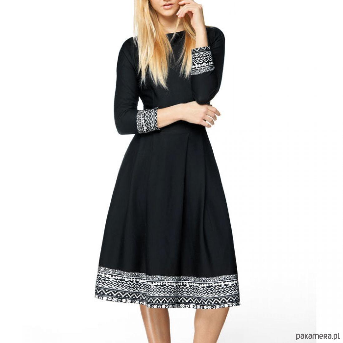 7560f0338c Sukienka RITA 3 4 Midi Eligia (czarna) - sukienki - midi - Pakamera.pl