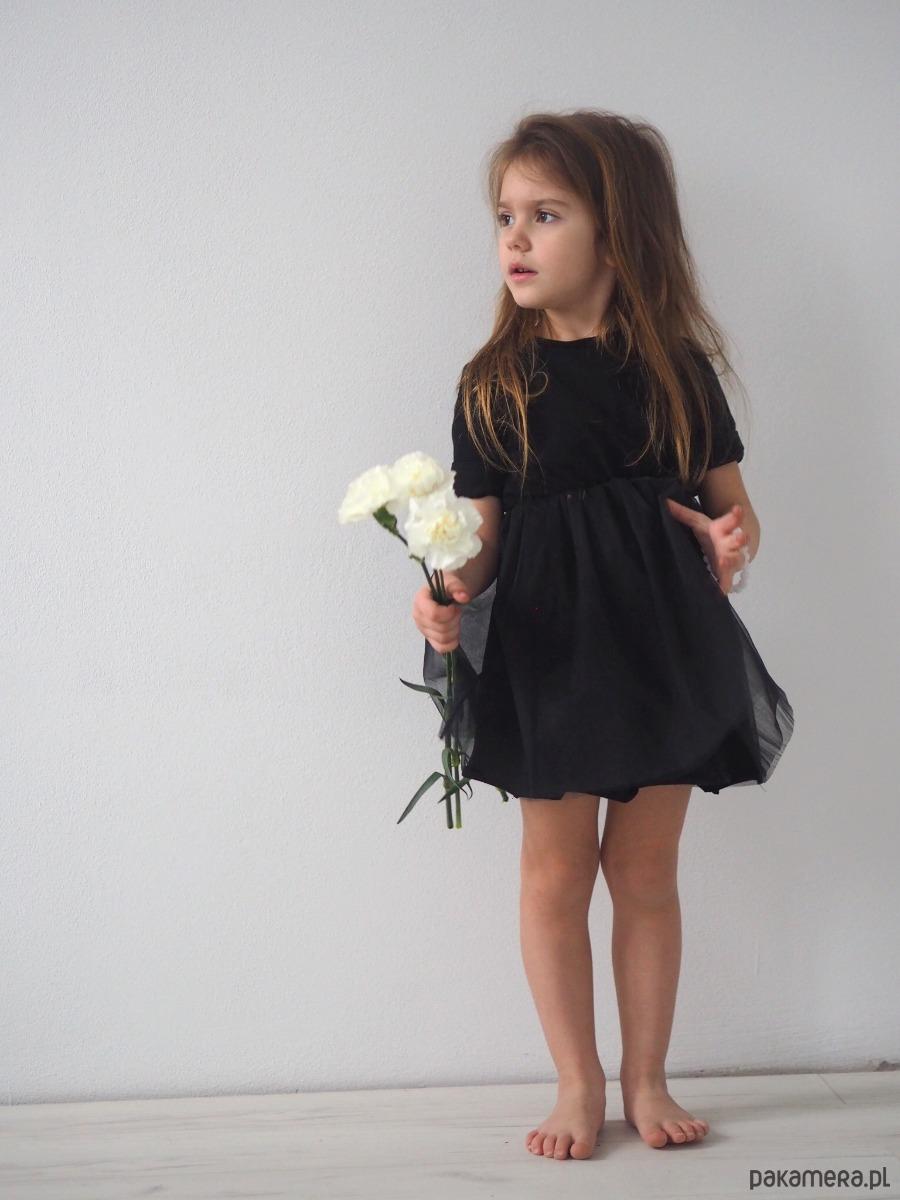 3e3d69a71e Sukienka dziecięca wizytowa mała czarna - dziewczynka - sukienki ...
