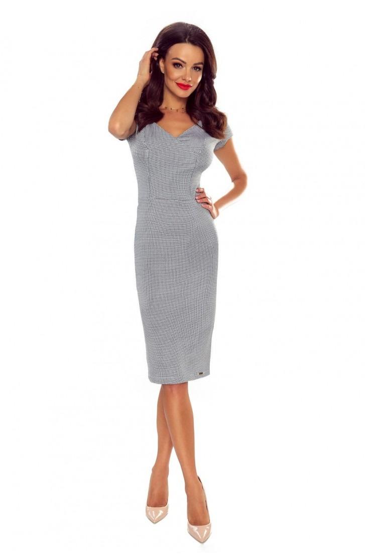 Elegancka sukienka do biura ( pepitka mała)