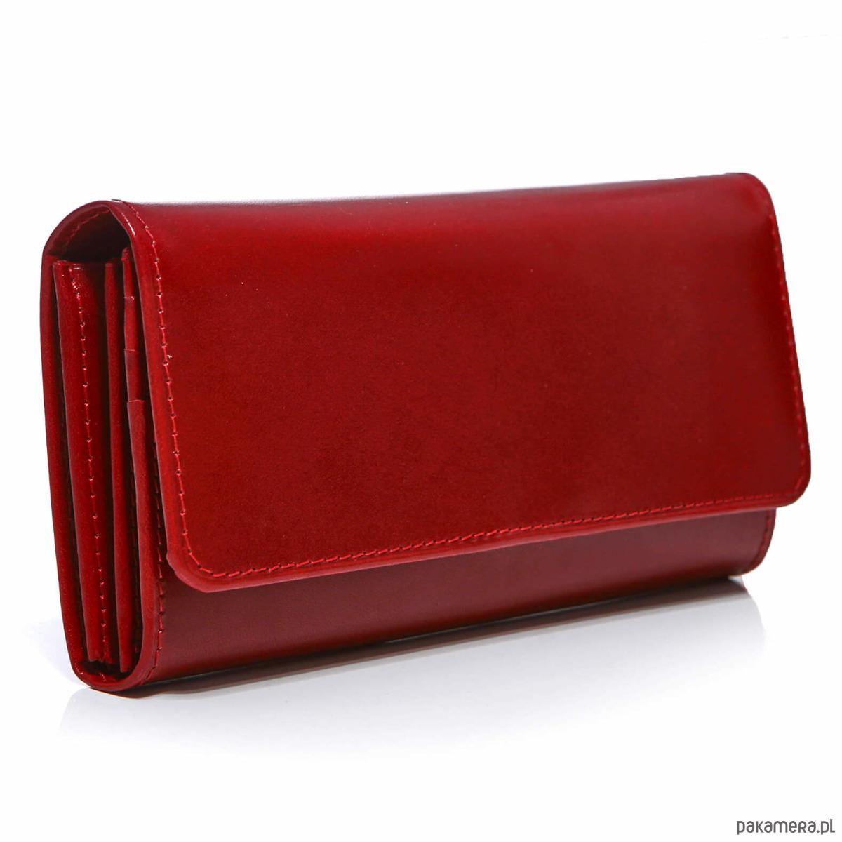 709bce27519cb Czerwony portfel damski skórzany duży Belveder - portfele - damskie ...