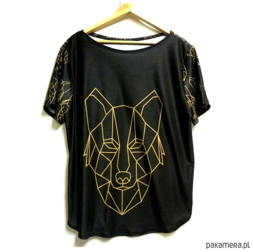 Bluzka damska,t-shirt ze wzorem wilk S-XL