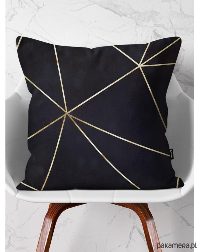 Poduszka Dekoracyjna Geometry Czarna Tekstylia Poduszki