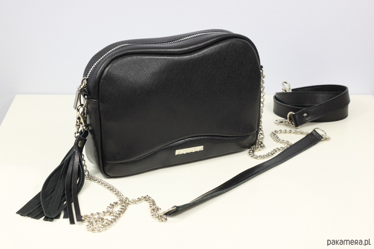 077b6faabec2e Skórzana Fabulous black Saffiano - torby na ramię - damskie ...