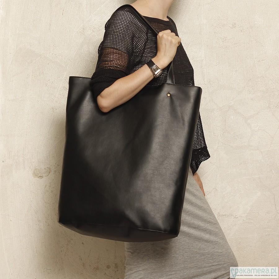 988e2200facd87 torby XXL - damskie-Mega Shopper bag czarny / duża torba na codzień