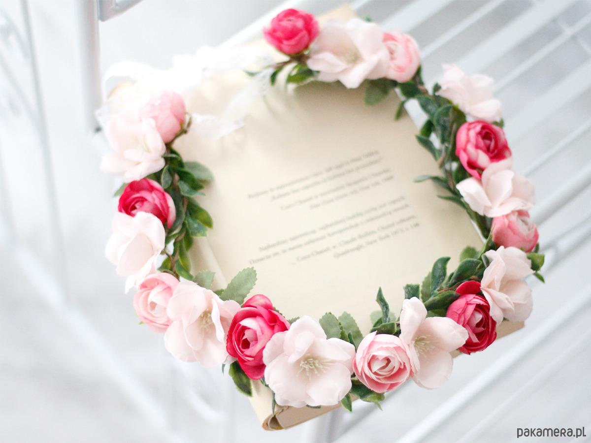 Kwiatowy Wianek Na Głowę Pudrowy Róż I Fuksja Pakamerapl