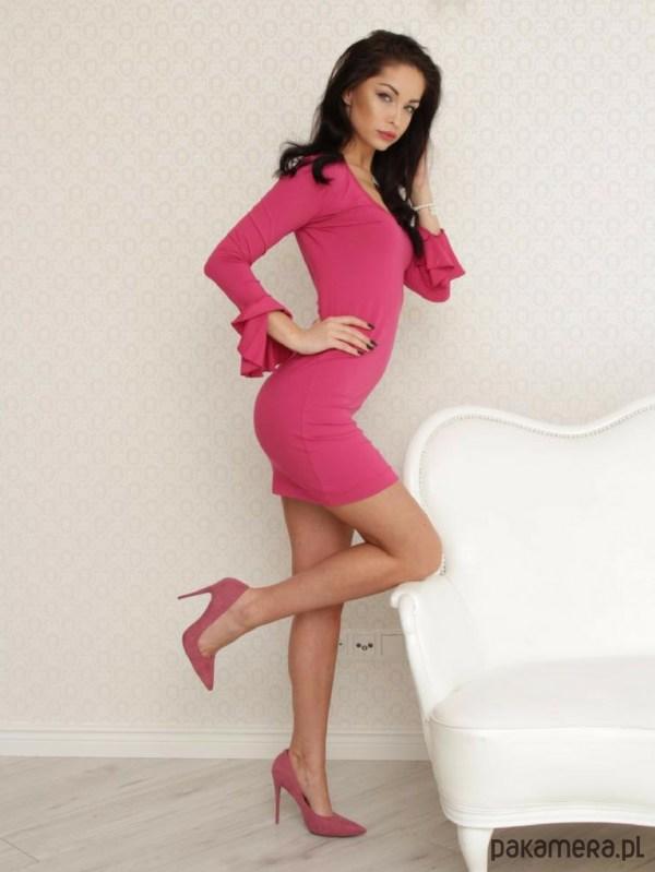 Sukienka Lily różowa LL100002_RAL3017