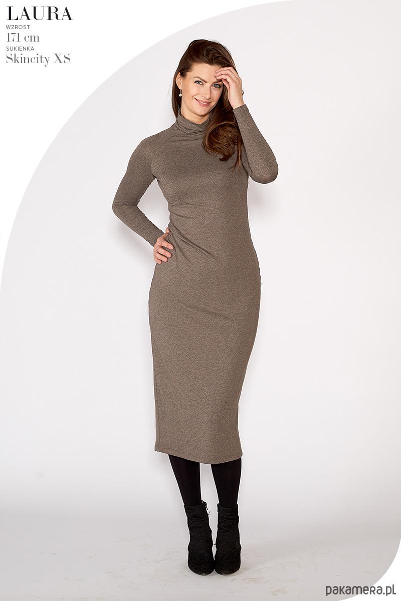 19a4fb4d66 sukienka SKINCITY Z GOLFEM MAXI marron - bluzki - inne - Pakamera.pl