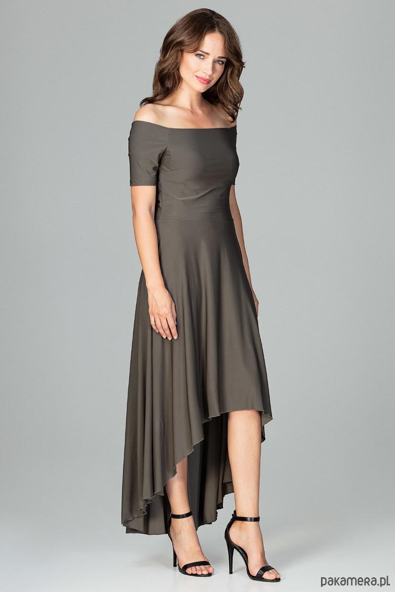 Sukienka K485 Oliwka