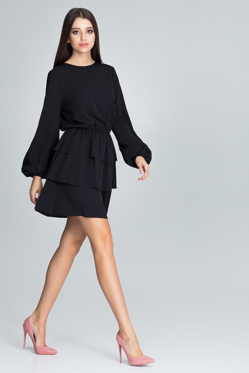 Sukienka mini m601 czarny
