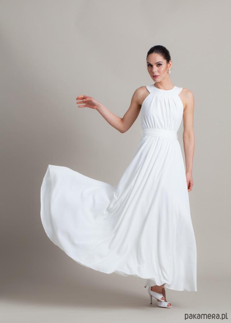00408a8278 Elegancka prosta suknia ślubna - sukienki - maxi - Pakamera.pl