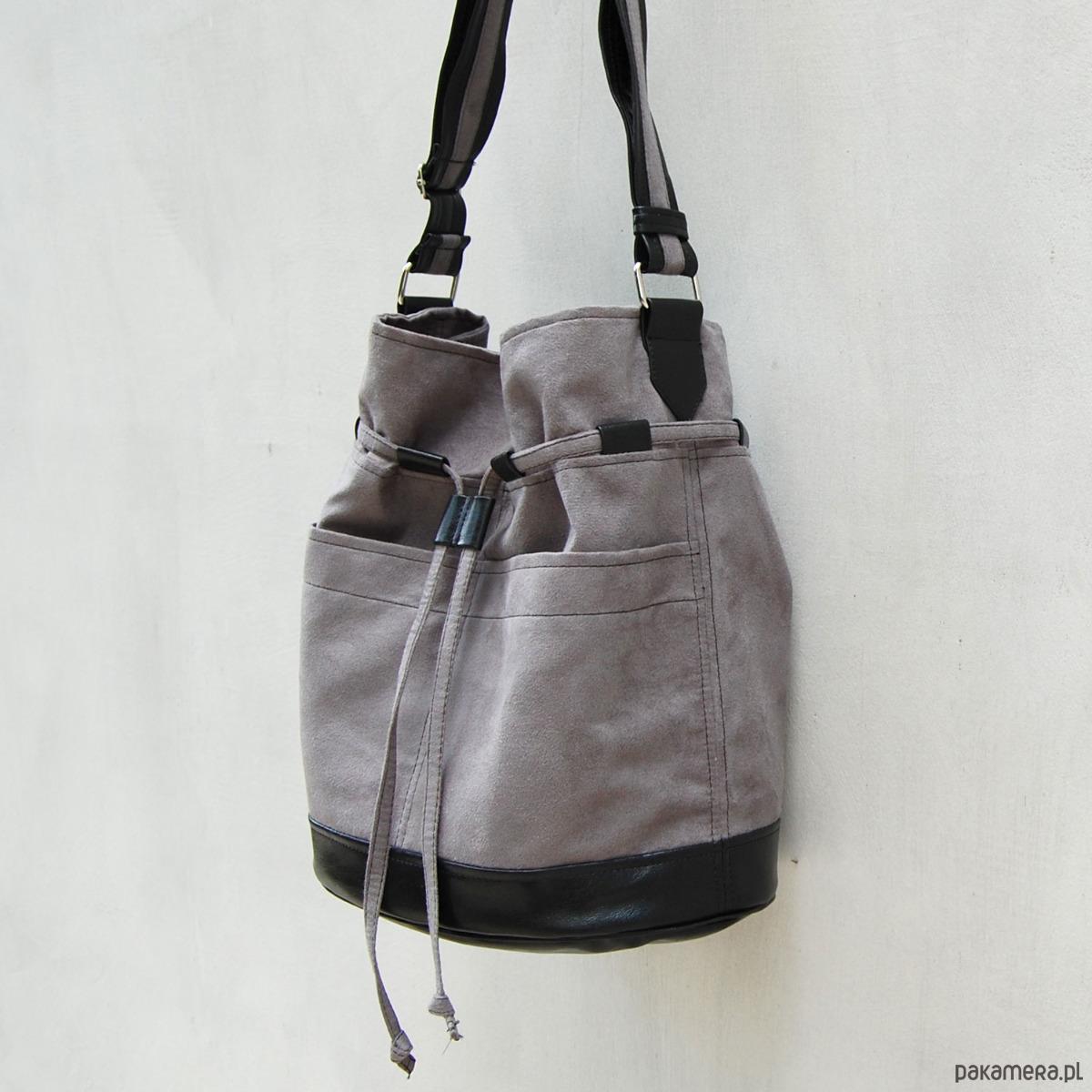 435eabd0f31b0 YOCCA - torba worek - szary z czarnym - torby na ramię - damskie -  Pakamera.pl
