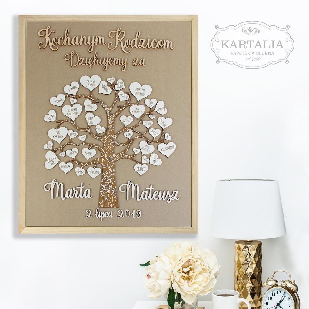 Niesamowite Drewniana rama obraz dla rodziców podziękowanie - Ślub - inne AF94
