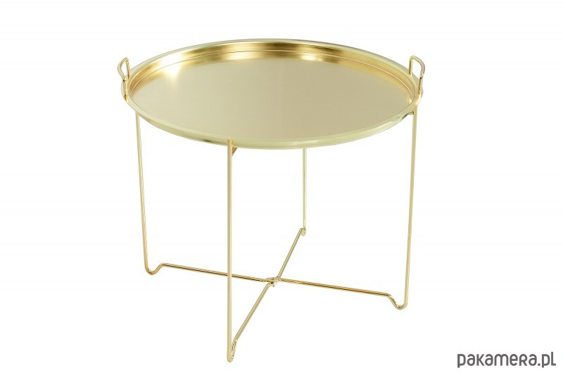 Stolik Kawowy Marraksesh Złoty Metal 48cm Pakamerapl