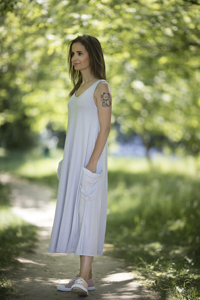 Sukienka Annie jasnoszara