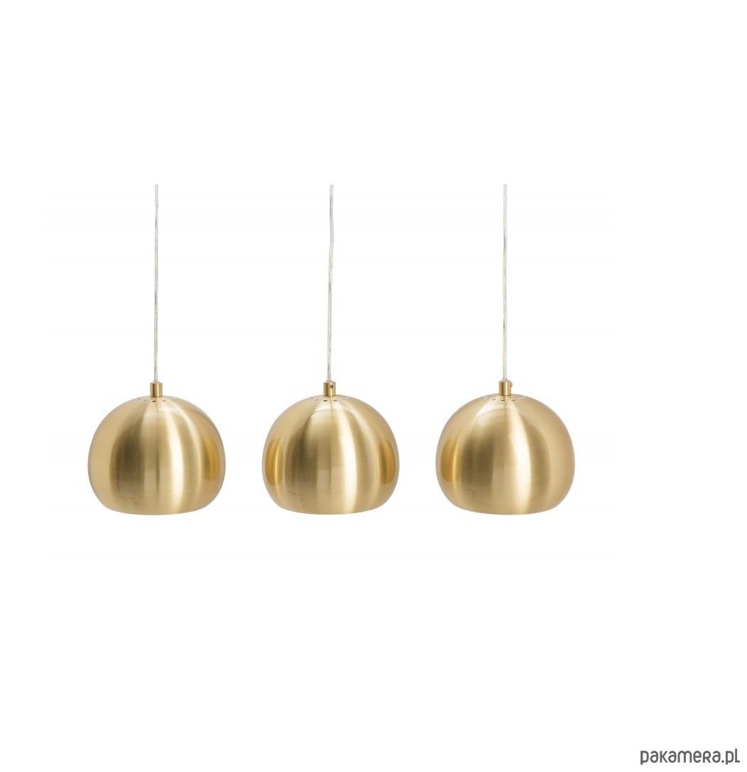 Lampa wisząca Ball złota 3 klosze 65cm