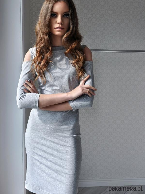 Sukienka szara LL100006_RAL7037