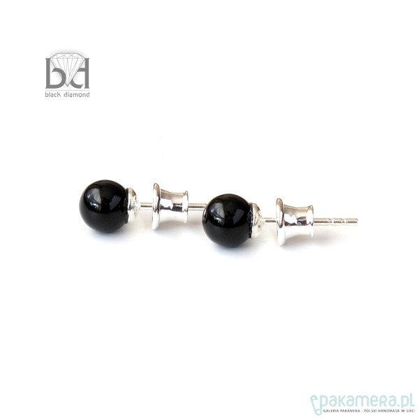 649d4aeda512cf Sztyfty - perła czarna (6mm) - Biżuteria - kolczyki - swarovski ...