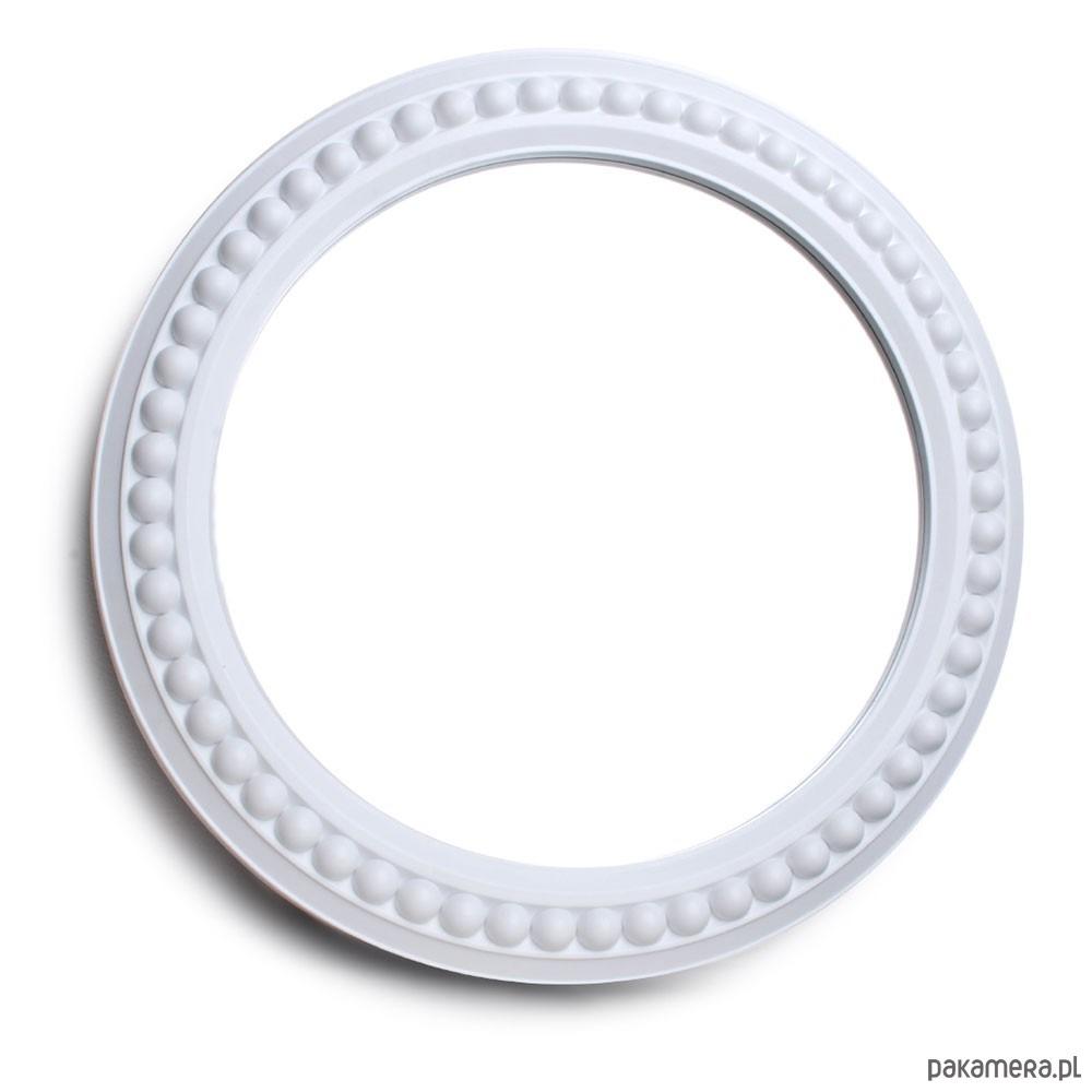 Lustro Okrągłe W Białej Ramie Pakamerapl