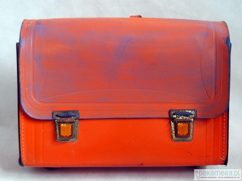 2f460934602ab Pomarańczowy tornister - torebki różne - damskie - Pakamera.pl