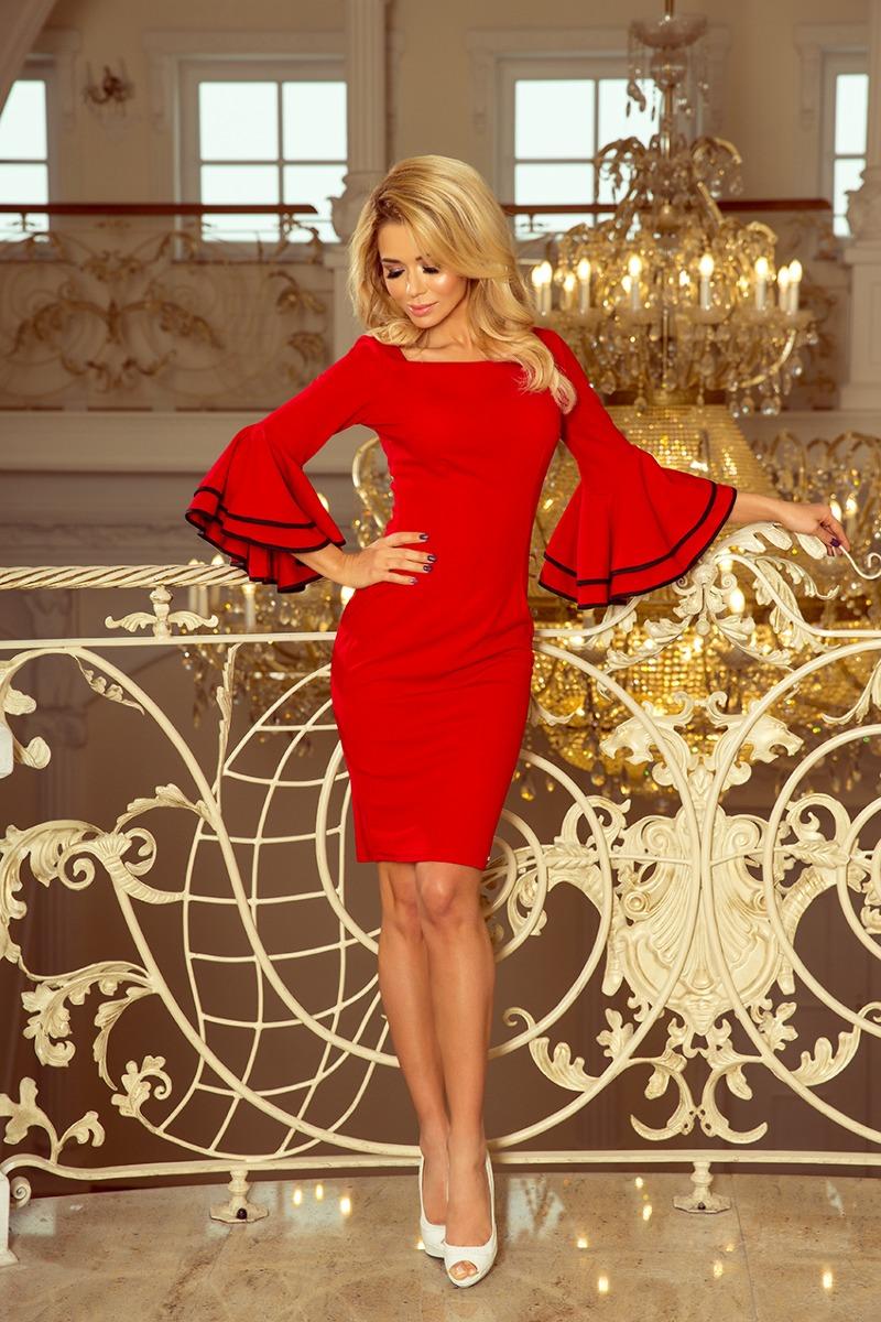 Sukienka hiszpańskie rękawy czerwona BADDY