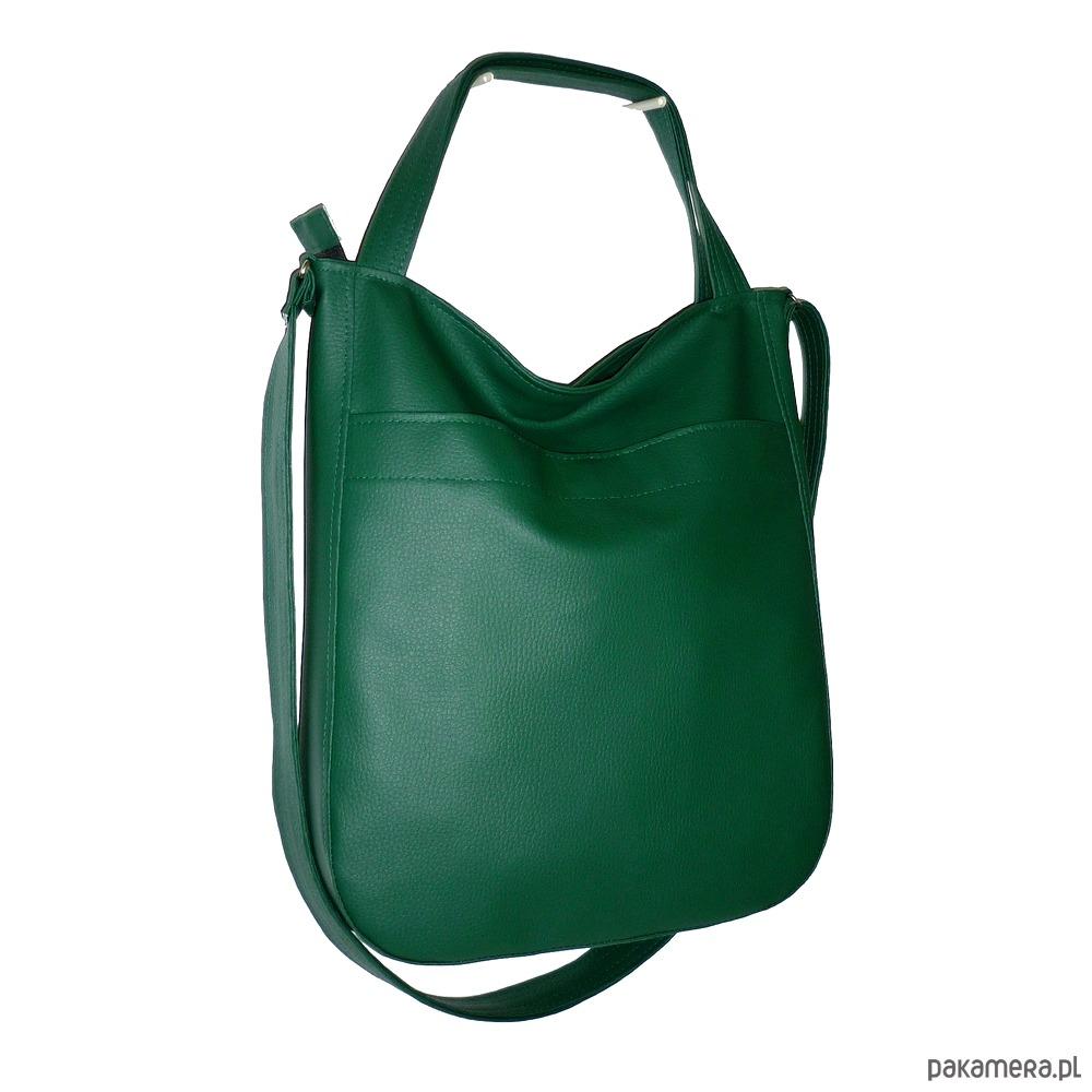 d979263f3d759 zielona torba worek, zielona listonoszka - torby na ramię - damskie ...