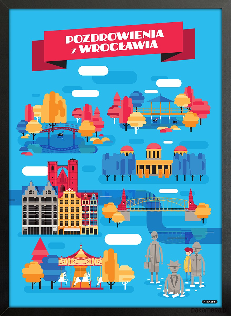 Pozdrowienia Z Wrocławia 50x70 Pakamerapl