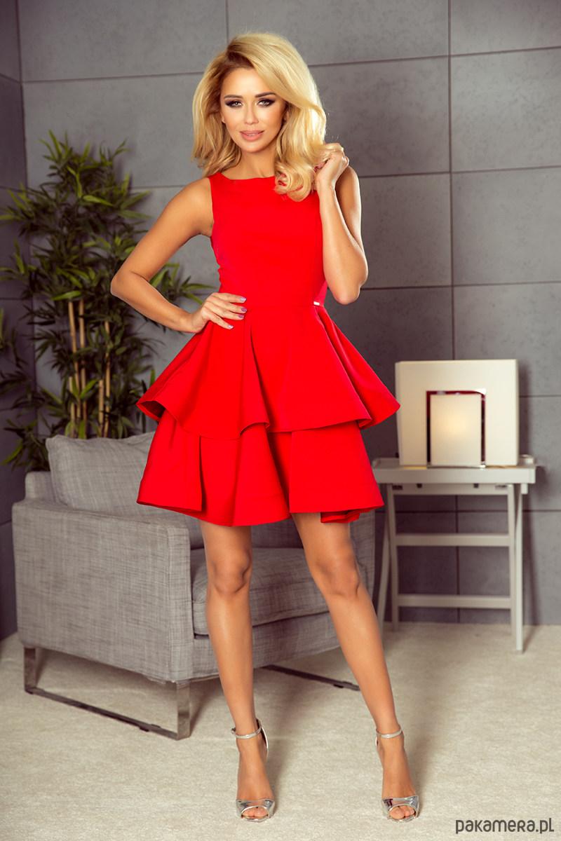 Sukienka rozkloszowana RAFAELLO czerwona