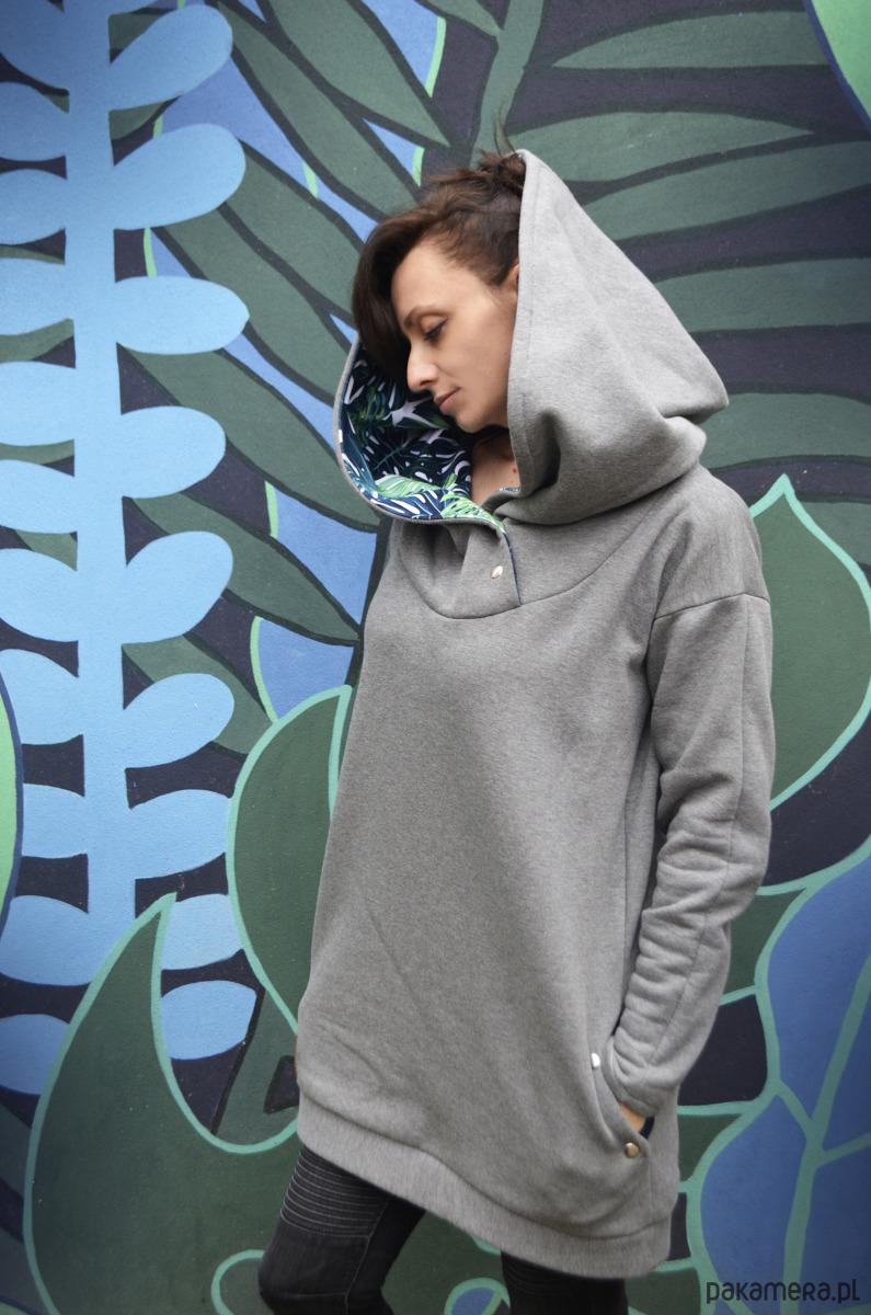 Oversize bluza hoodie ogromny kaptur monstera Pakamera.pl