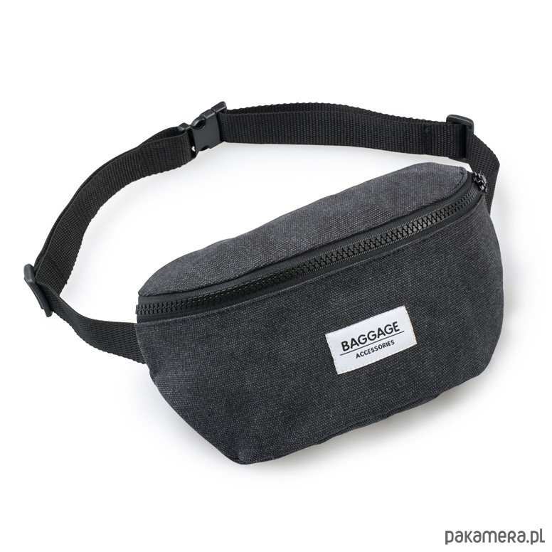 bba8ce2fcaeb31 akcesoria - torby i nerki - męskie-saszetka nerka torebka męska czarna  Baggage