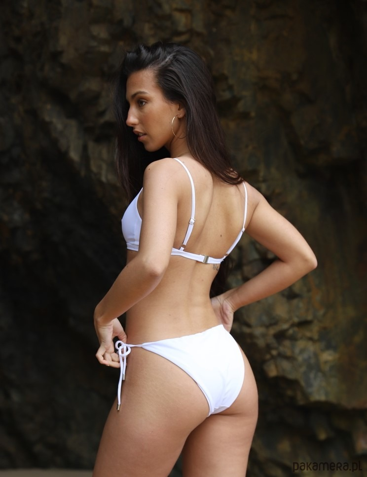 TROPIKO SWIMWEAR - dół bikini FARO white - stroje kąpielowe Moe6C4cG