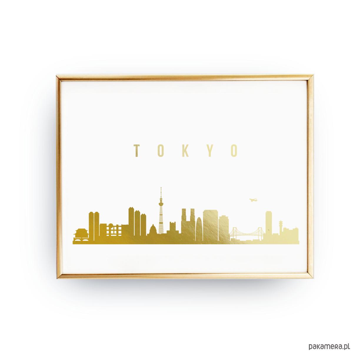 Plakat Tokio Złoty Druk Pakamerapl