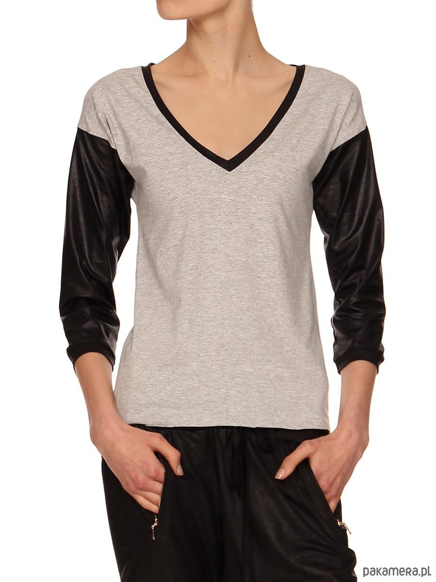 T-shirt szary YY500214_RAL7037_9005