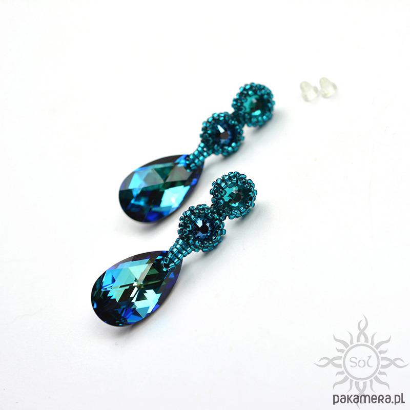 72dd993f7d1c21 Biżuteria - kolczyki - swarovski-Bermuda Blue,kolczyki z kryształami  Swarovskiego ...