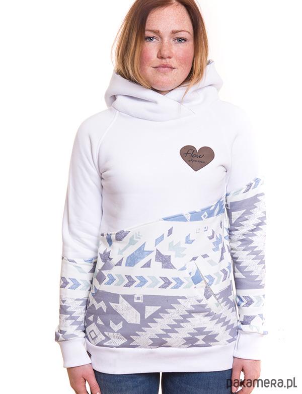 Bluza damska z kapturem AZTEK biała