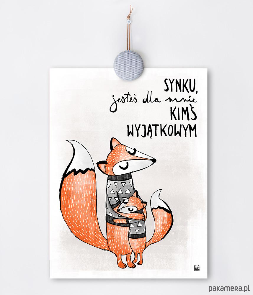 Plakat Z Liskiem Do Pokoju Chłopca Synka Pakamerapl