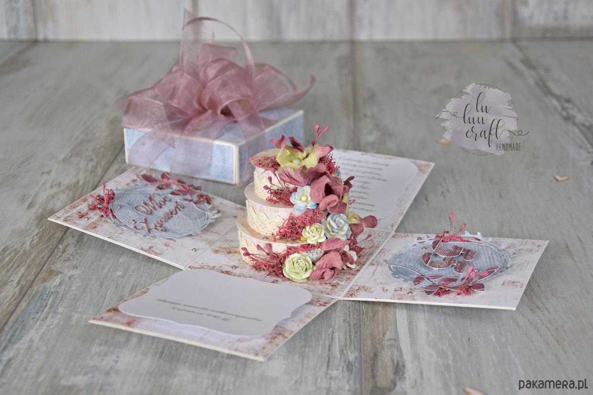 Niesamowite pudełko eksplodujące na urodziny/ślub - Ślub - zaproszenia, kartki VM73