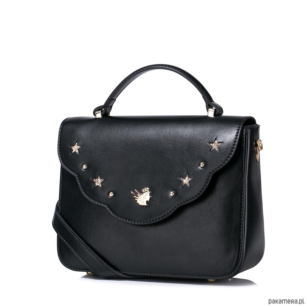 6ddfe824892a3 NUCELLE Zgrabna torebka do ręki Czarna - torebki różne - damskie ...