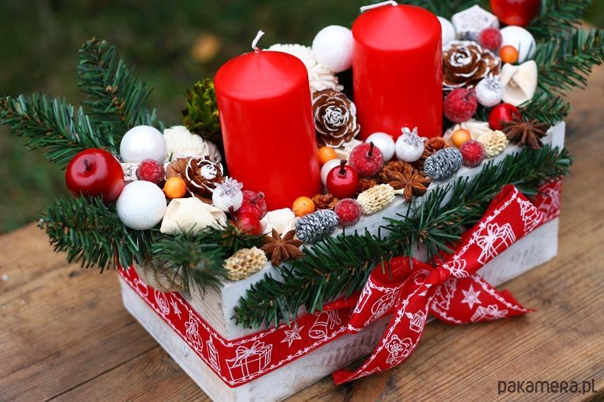 Stroik świąteczny Na Boże Narodzenie Pakamerapl