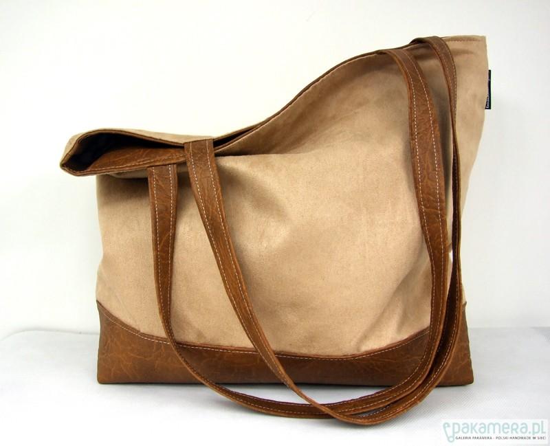 f08158dae76f5 Pojemna torba XL kawa z mlekiem - torby na ramię - damskie - Pakamera.pl