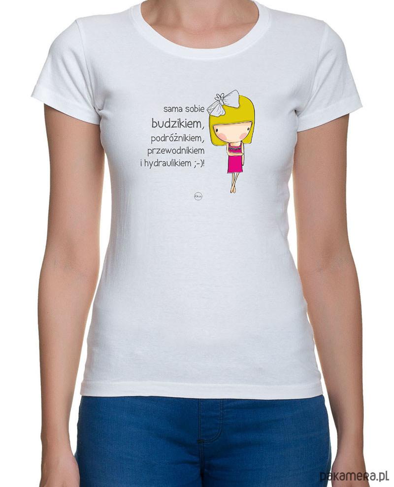koszulka damska. sama sobie budzikiem